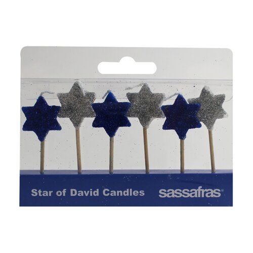 Sassafras Star of David Holiday Party Candle
