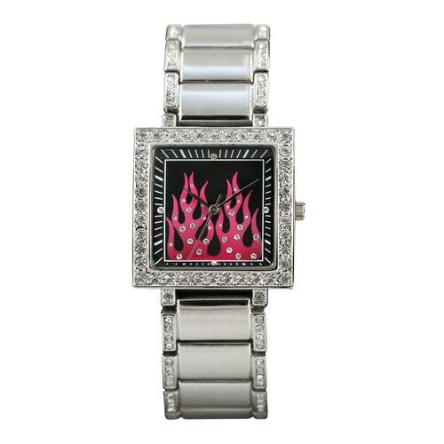 RAM Instrument Highway Honey Women's Watch with Pink Flames Emboss