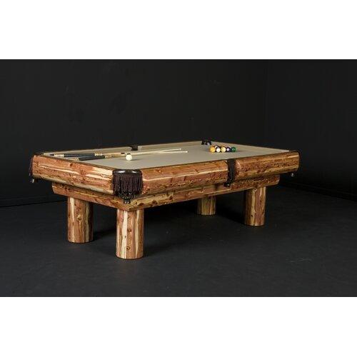 8' Red Cedar Pool Table
