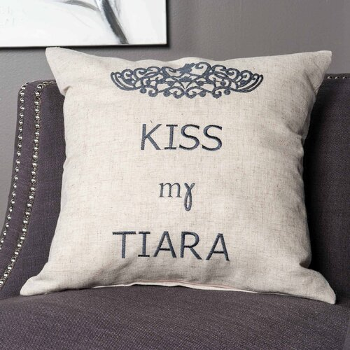 Kiss My Tiara Cushion