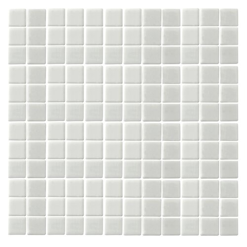 "Epoch Architectural Surfaces Monoz Honed 1"" x 1"" Recycled Glass Mosaic in White"