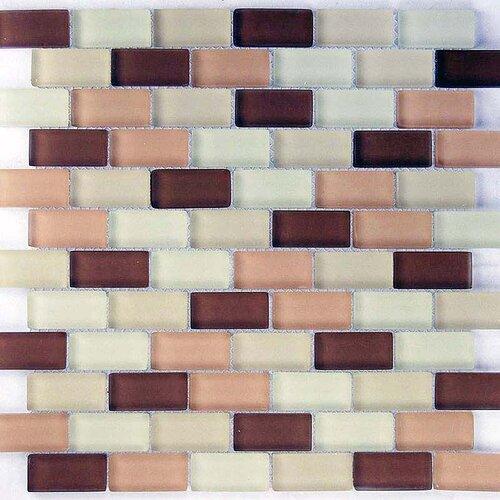 """Epoch Architectural Surfaces Desertz Tabernas 2"""" x 1"""" Glass Mosaic in Beige Multi"""