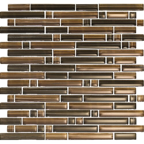 Epoch Architectural Surfaces Brushstrokes Marrone Random Sized Mosaic in Brown Multi