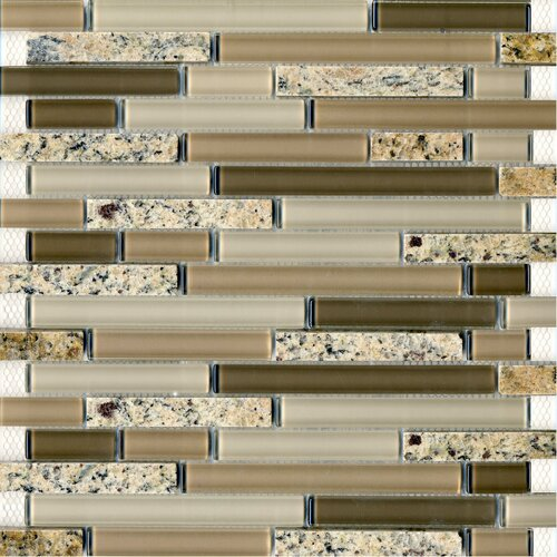 Epoch Architectural Surfaces Spectrum Desert Gold Random Sized Stone and Glass Blend Mosaic in Beige Multi