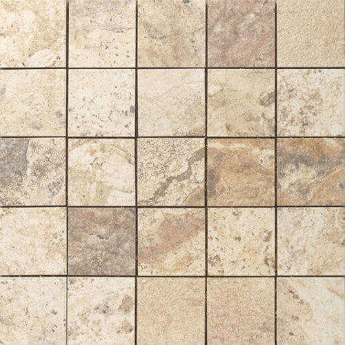 Epoch Architectural Surfaces Porcelain Mosaic in Beige Travertine