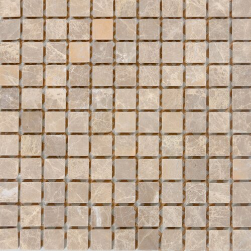 "Epoch Architectural Surfaces 1"" x 1"" Polished / Tumbled Marble Mosaic in Emperador Light"