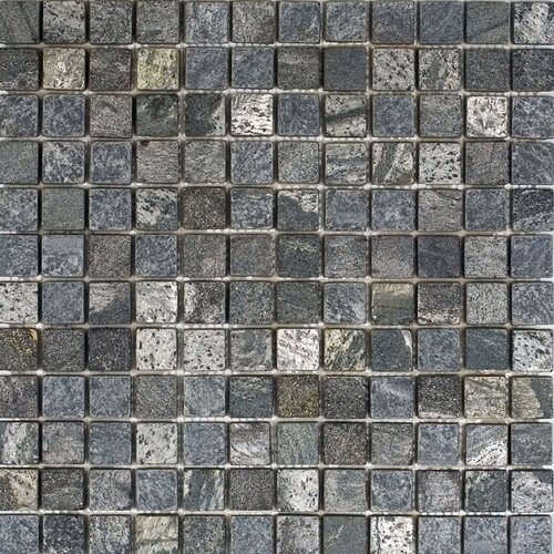 "Epoch Architectural Surfaces 1"" x 1"" Tumbled Slate Mosaic in Ostrich Grey"