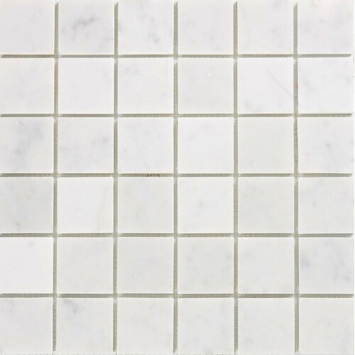 "Epoch Architectural Surfaces 2"" x 2"" Polished Marble Mosaic in White Carrara"