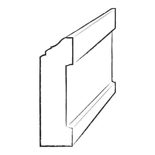 "Moldings Online 0.44"" x 3.5"" Solid Hardwood White Oak Wall Base in Unfinished"