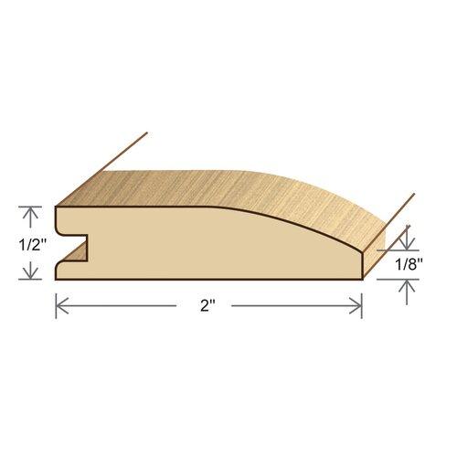 "Moldings Online 0.34"" x 1.5"" Solid Hardwood White Oak Reducer in Unfinished"