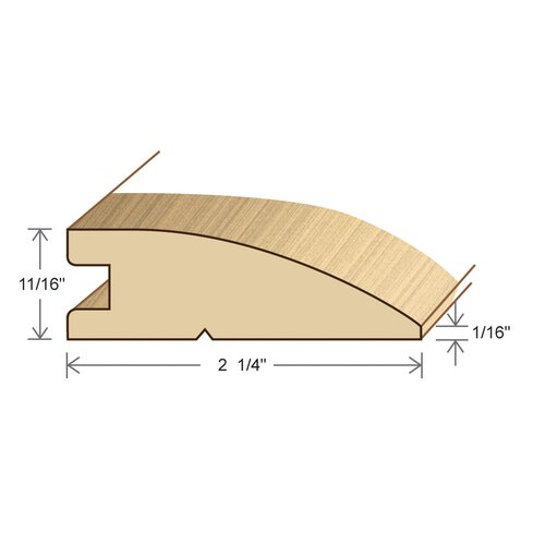 "Moldings Online 0.69"" x 2.26"" Solid Hardwood Ipe Reducer in Unfinished"