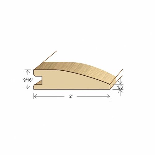 "Moldings Online 0.52"" x 2"" Solid Hardwood Merbau Reducer in Unfinished"