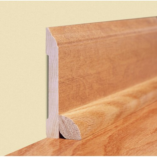 "Moldings Online 0.44"" x 2.89"" Solid Hardwood Rift Sawn White Oak Wall Base in Unfinished"