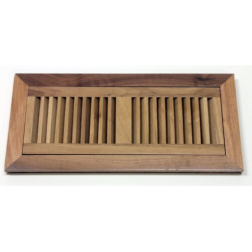 "Moldings Online 6-3/4"" x 14-1/2"" Walnut Wood Flush Mount Vent"