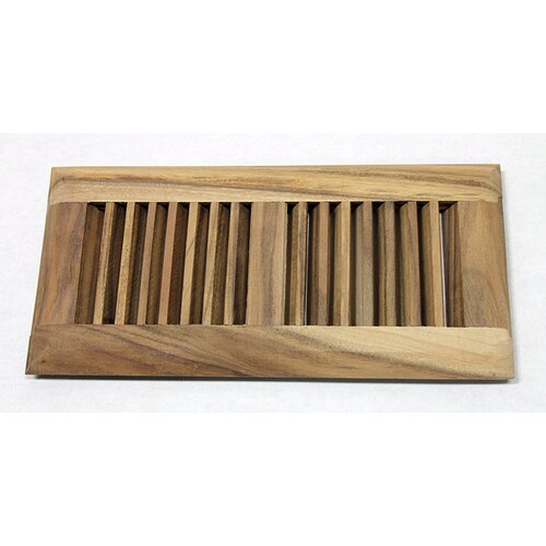 "Moldings Online 5-5/8"" x 11-1/4"" Acacia Surface Mount Wood Vent"