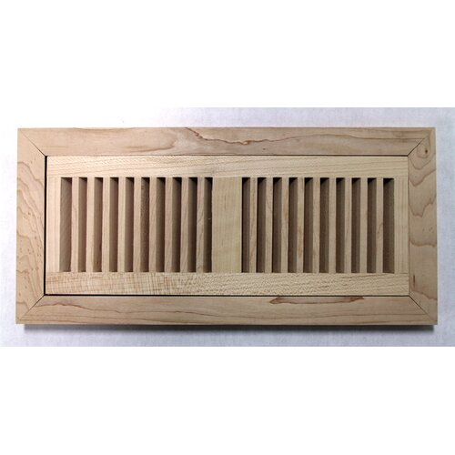 "Moldings Online 6-3/4"" x 14-1/2"" Maple Wood Flush Mount Vent"