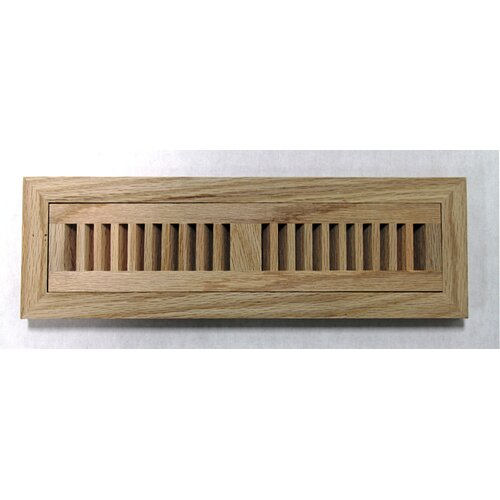 "Moldings Online 5-3/4"" x 12-1/4"" Red Oak Wood Flush Mount Vent"