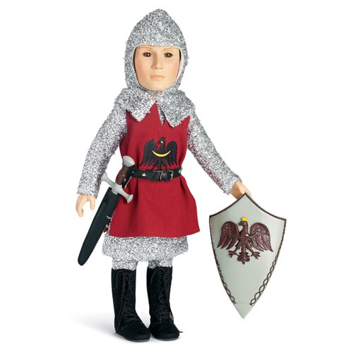 "Carpatina Knight Outfit with Tunic, Tights, Shirt, Boots for 18"" Slim Boy Dolls"