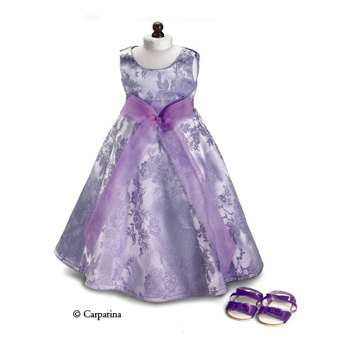 American Girl Dolls Lavender Holiday Party Dress and Sandals