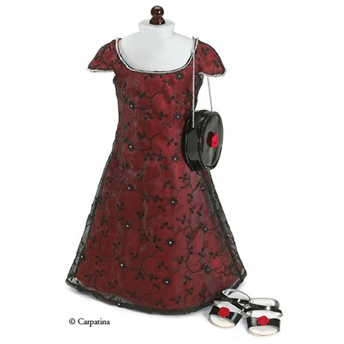 Carpatina American Girl Dolls Party Dress, Bag and Sandals
