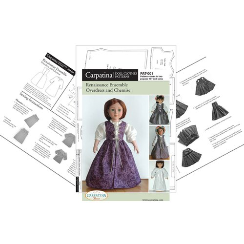 Carpatina Clothes Pattern Doll Renaissance Ensemble