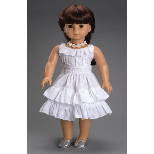 Carpatina American Girl Dolls Fleur Blanc Dress