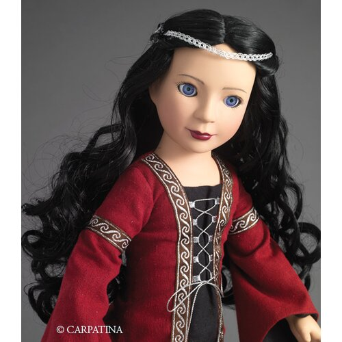 "Carpatina Veronika Medieval Princess 18"" Vinyl Slim Doll"