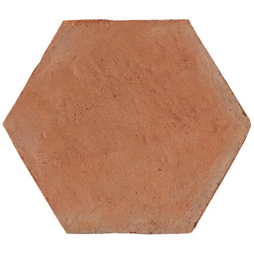 "Solistone Terra Cotta 9"" x 8"" Hexagano Tile in Brown"