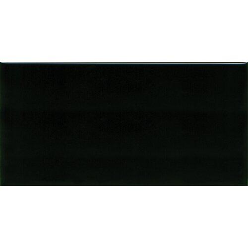 "Solistone Hand-Painted Ceramic 6"" x 3"" Glazed Single Bullnose Tile Trim in Carbon"