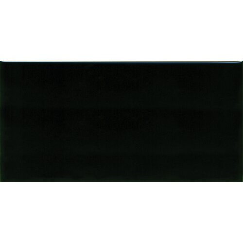 """Solistone Hand-Painted Ceramic 6"""" x 3"""" Glazed Two Side Bullnose - Left Tile Trim in Carbon"""