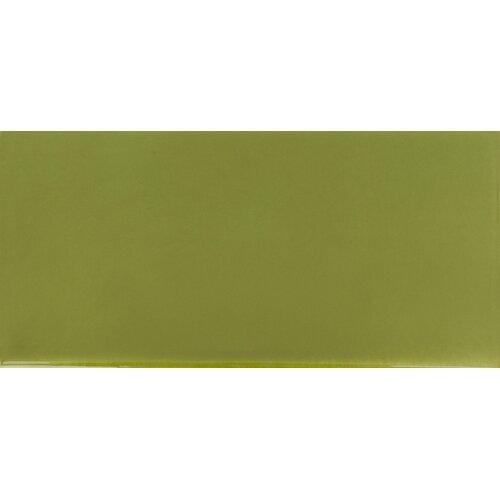 "Solistone Hand-Painted Ceramic 6"" x 3"" Glazed Single Bullnose Tile Trim in Nopal"