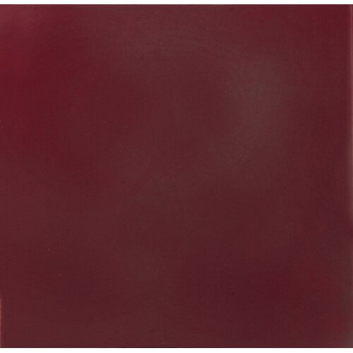 """Solistone Hand-Painted Ceramic 6"""" x 6"""" Glazed Two Side Bullnose Tile Trim in Russet"""