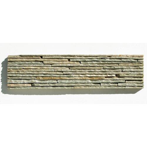 Portico Slate Random Sized Stacked Stone Tile in Light Green