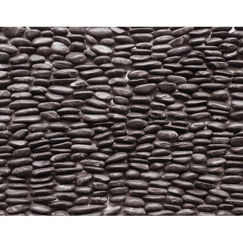 Standing Pebbles Random Sized Interlocking Mesh Tile in Mona