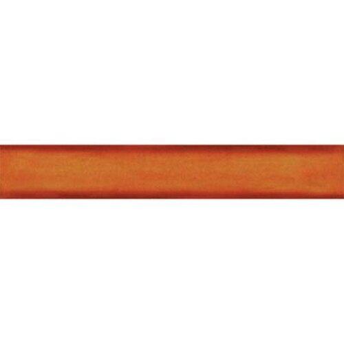 """Solistone Hand-Painted Ceramic 6"""" x 1"""" Glazed Quarter Round Tile Trim in Tangerine"""