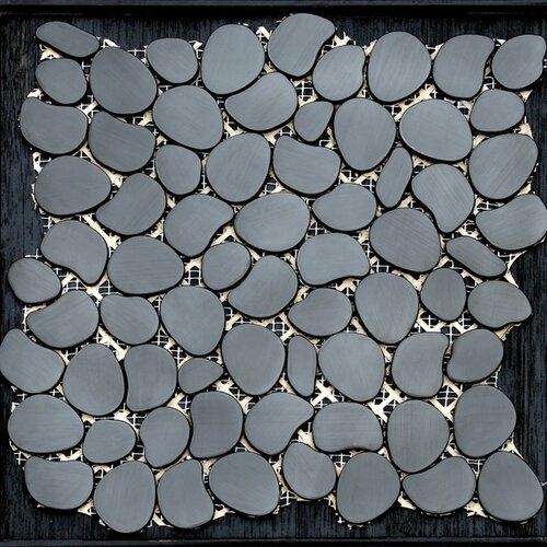 Freeform Random Sized Metal Interlocking Mesh Tile in Umbra (Brushed Black)
