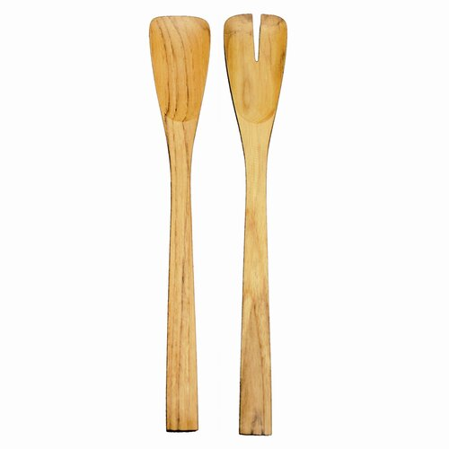 2-Piece Long Teak Salad Server Set