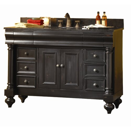 kaco international guild hall 48 distressed bathroom vanity base