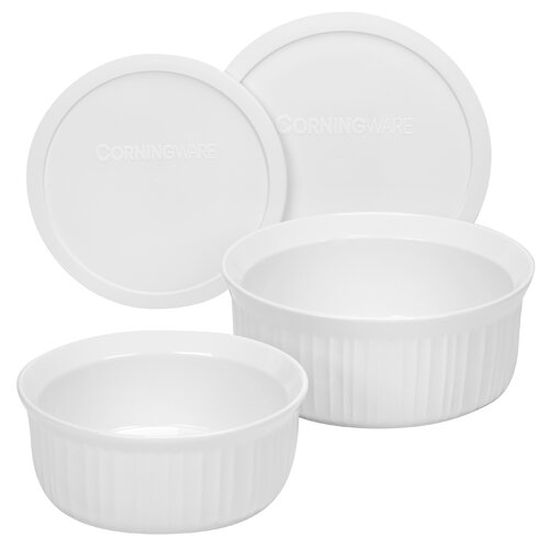 Corningware French White 4 Piece Bakeware Set