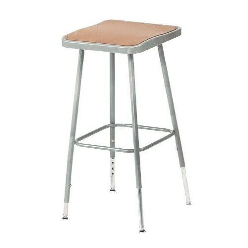 National Public Seating Height Adjustable Stool with Square Seat