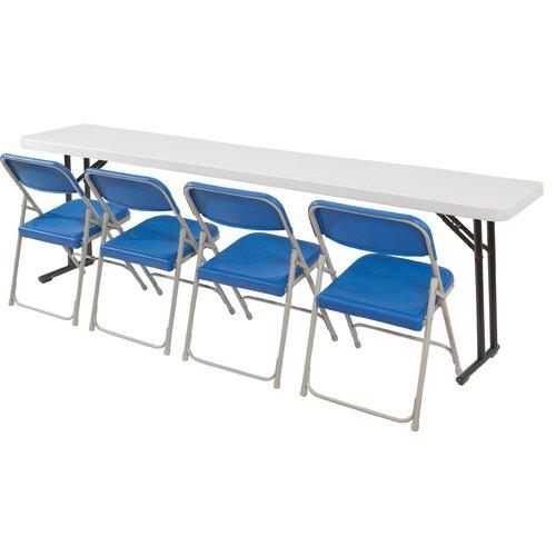 "National Public Seating 96"" Rectangular  Folding Table"