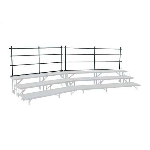National Public Seating Guard Rail for Tapered Risers