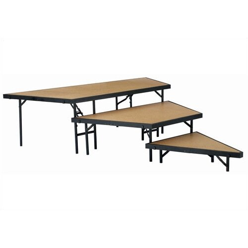 National Public Seating Stage Pie Riser Set in Carpet