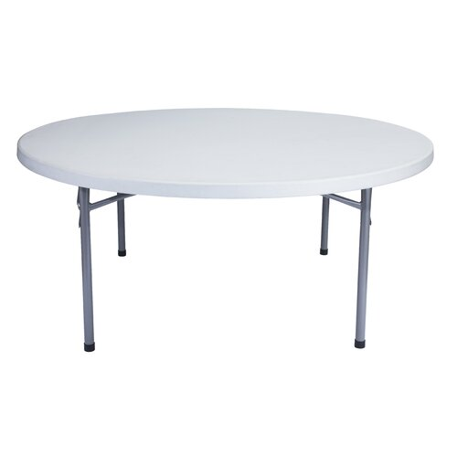 "National Public Seating Blow Molded 71"" Round Folding Table"