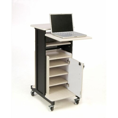 Oklahoma Sound Corporation Premium Plus Presentation Cart Full Podium