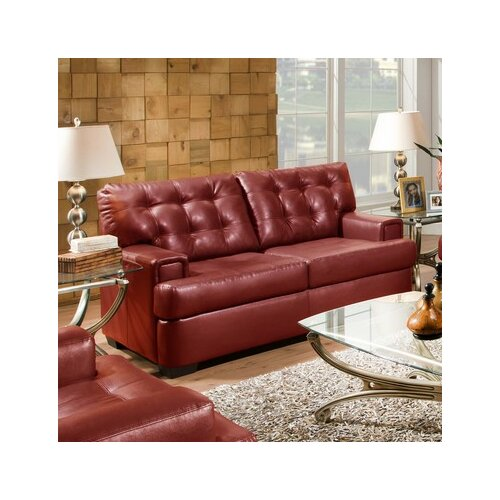 Soho Bonded Leather Loveseat