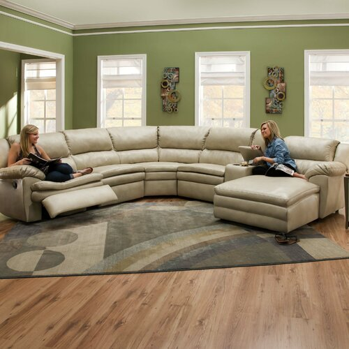 Editor Bonded Leather Sectional