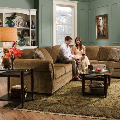 Simmons Upholstery Atmore Sleeper Sectional Amp Reviews