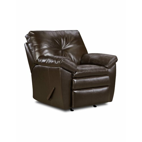 Simmons Upholstery Sebring Bonded Leather Rocker  Recliner
