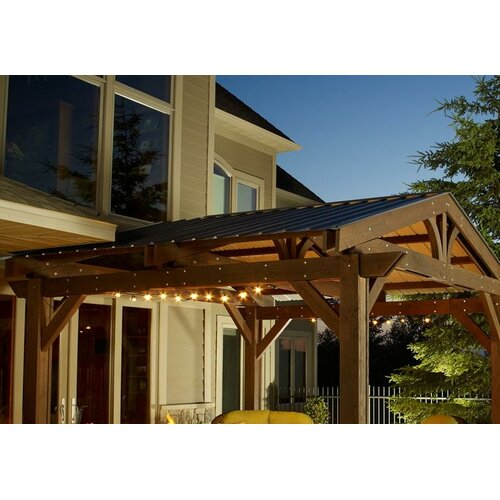 Lodge ii 3 39 2 h x 14 39 9 w x 15 39 d pergola optional roof for Great outdoor room company